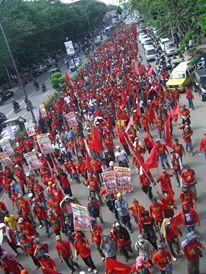 Aksi demo tolak kenaikan harga BBM.Foto. Fuad