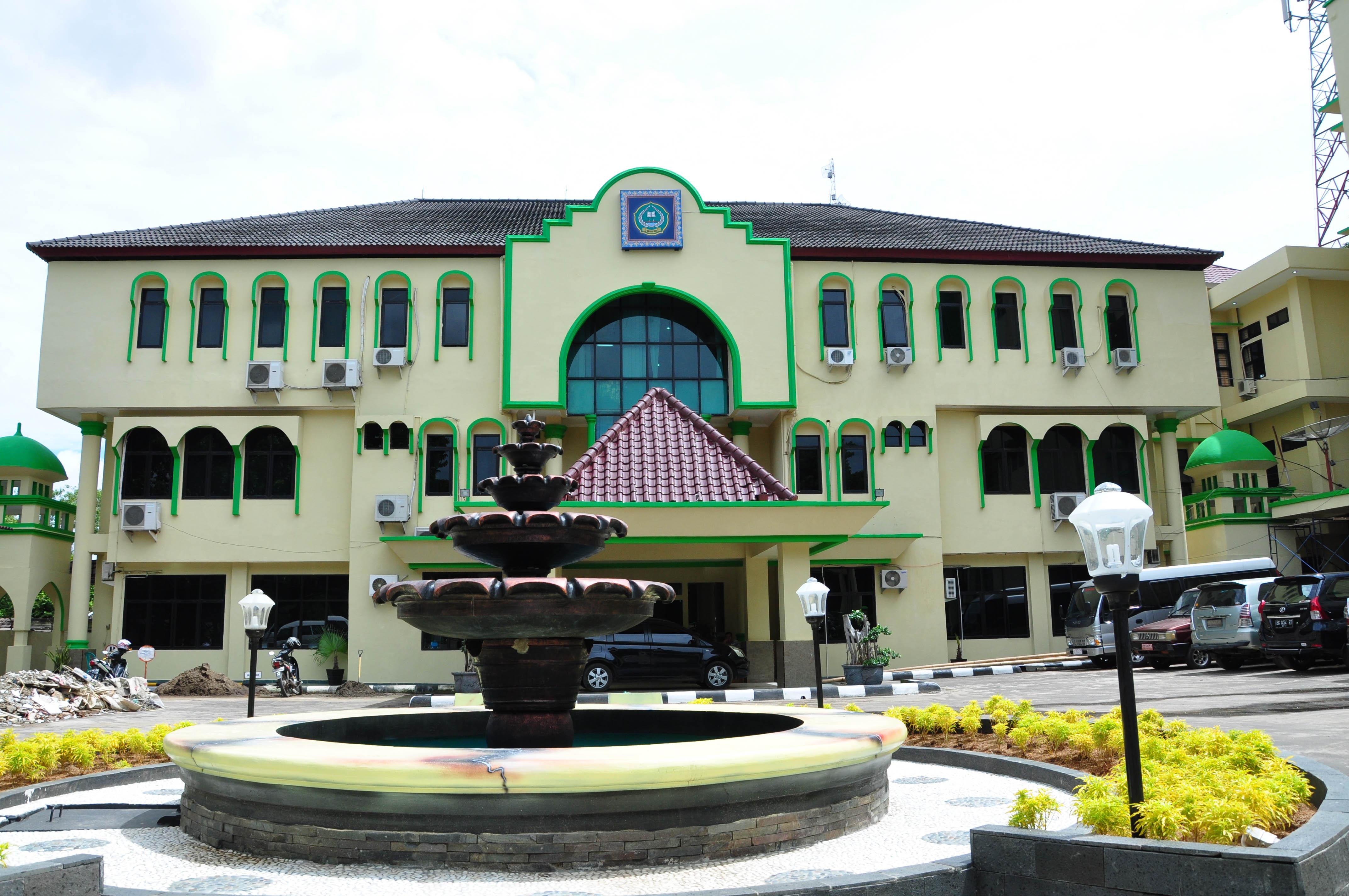Gedung rektorat IAIN Raden Fatah Palembang Foto : Prabu