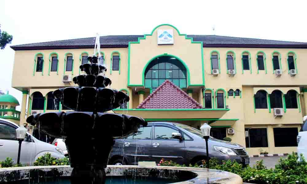 Terlihat gedung rektorat UIN Raden Fatah Palembang Foto : Jeo