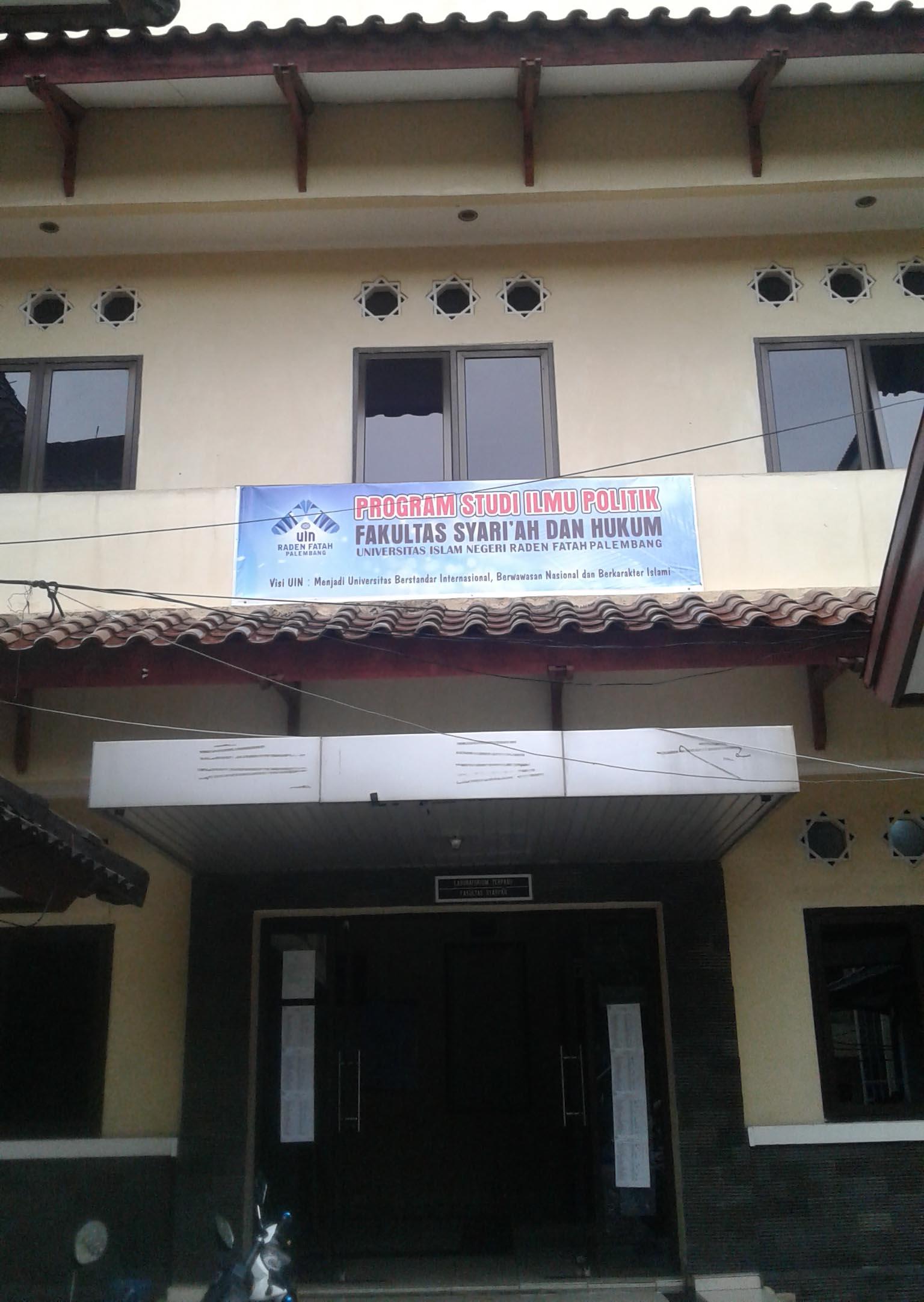 Gedung Prodi Ilmu Politik Fakultas Syariah, Kamis (25/2/2016).