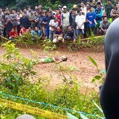 Foto : Devi Larasati Seorang jenazah ditemukan tewas mengenaskan di Desa Lais Kabupaten Musi Banyuasin Sumatera Selatan pada Minggu (13/3/2016). Korban bukanlah warga desa setempat.