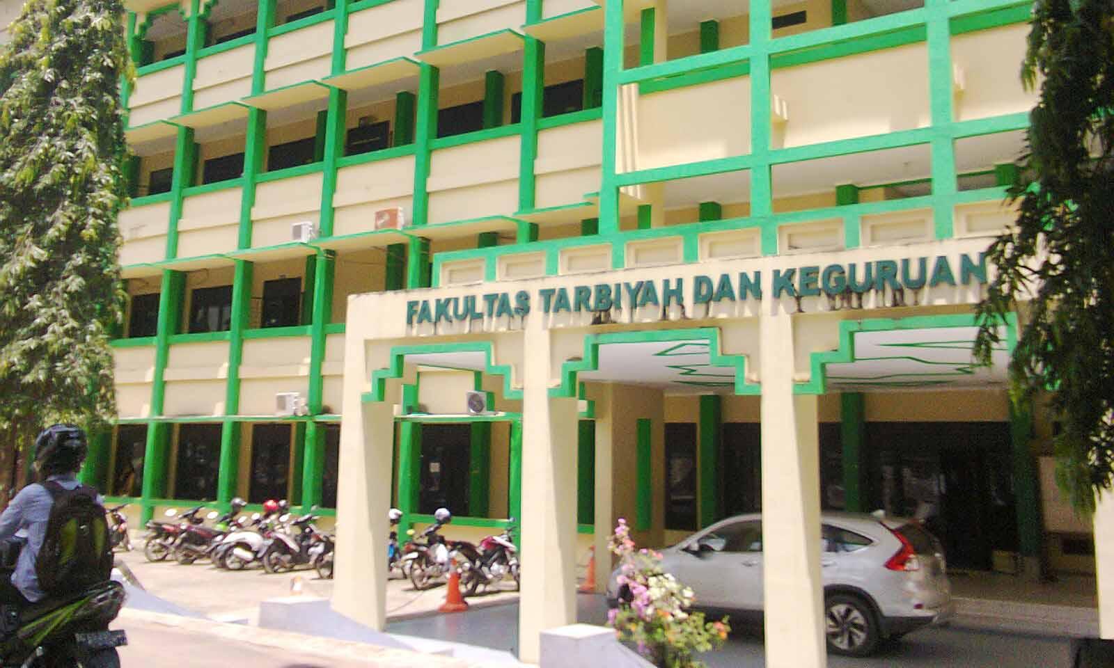 Potret Fakultas Tarbiyah dan Keguruan Universitas Islam Negeri Raden Fatah Palembang tampak dari depan. Kamis (3/3/2016).