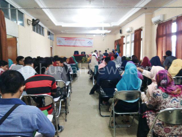 Seminar kebangsaan membahas tentang Pancasila, Undang-Undang Dasar 1945, Negara Kesatuan Republik Indonesia (NKRI), dan Bhineka Tunggal Ika. Sabtu (18/6/16) di Ruang Munaqosah Fakultas Syariah dan Hukum Islam UIN RF Palembang.