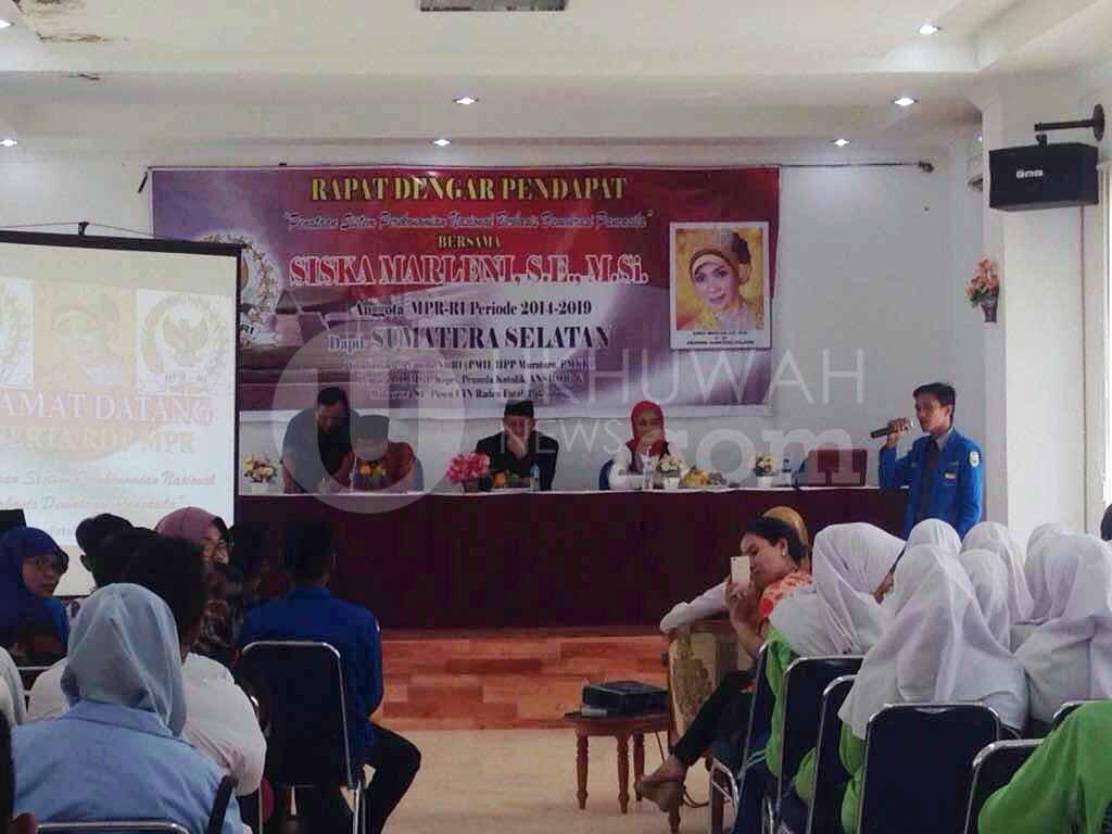 Suasana Rapat- Suasana Rapat Dengar Pendapat yang diadakan oleh Pergerakan Mahasiswa Islam Indonesia (PMII) cabang Palembang di Gedung Pasca Sarjana Universitas Islam Negeri Raden Fatah (UIN RF), Sabtu (18/02/17).Ukhuwahnews/Noviyanti