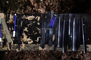 Deretan alat untuk mengukir kayu menjadi sebuah ukiran khas Palembang
