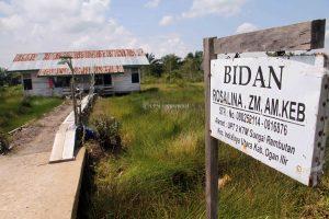 Pusat bantun kesehatan yang berada di kampung transmigran Desa Sungai Rambutan, (10/5/2018).