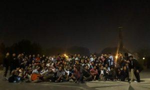 Foto bersama gabungan UKMK UIN RF setelah melakukan penggalngan dana di sekitar lokasi wisata malam kota Palembang, (7/8). IST