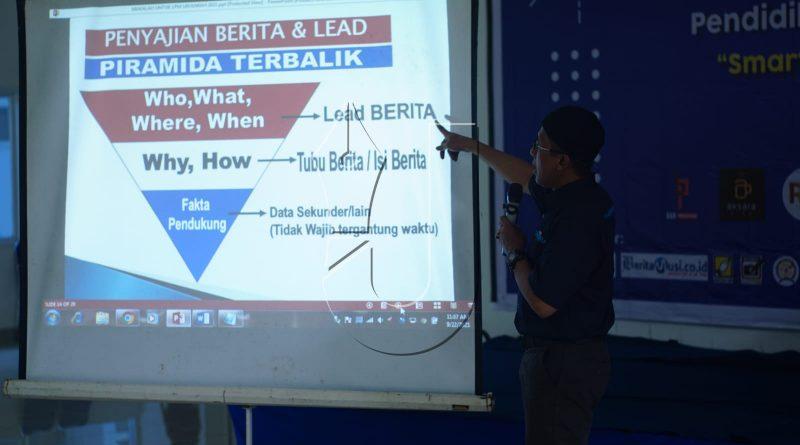 Hadirkan Founder Kabar Sumatera, Peserta Diklatsarjur Latihan Dasar Kepenulisan